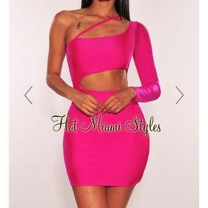 NEON PINK DRESS!